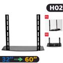 Chân đỡ tivi H2 - kèm khay đỡ mặt kính (32 - 60 inch)