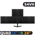 Giá treo 4 màn hình Dektop LCD S4VH (14 - 24 inch) - Nhập Khẩu không bắt vít