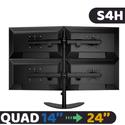 Giá treo 4 màn hình LCD Dektop S4H ( 14 - 24 inch) - Nhập Khẩu