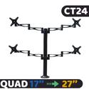 Giá treo 4 màn hình LCD gắn bàn CT24 (17 - 27 inch) - Nhập Khẩu