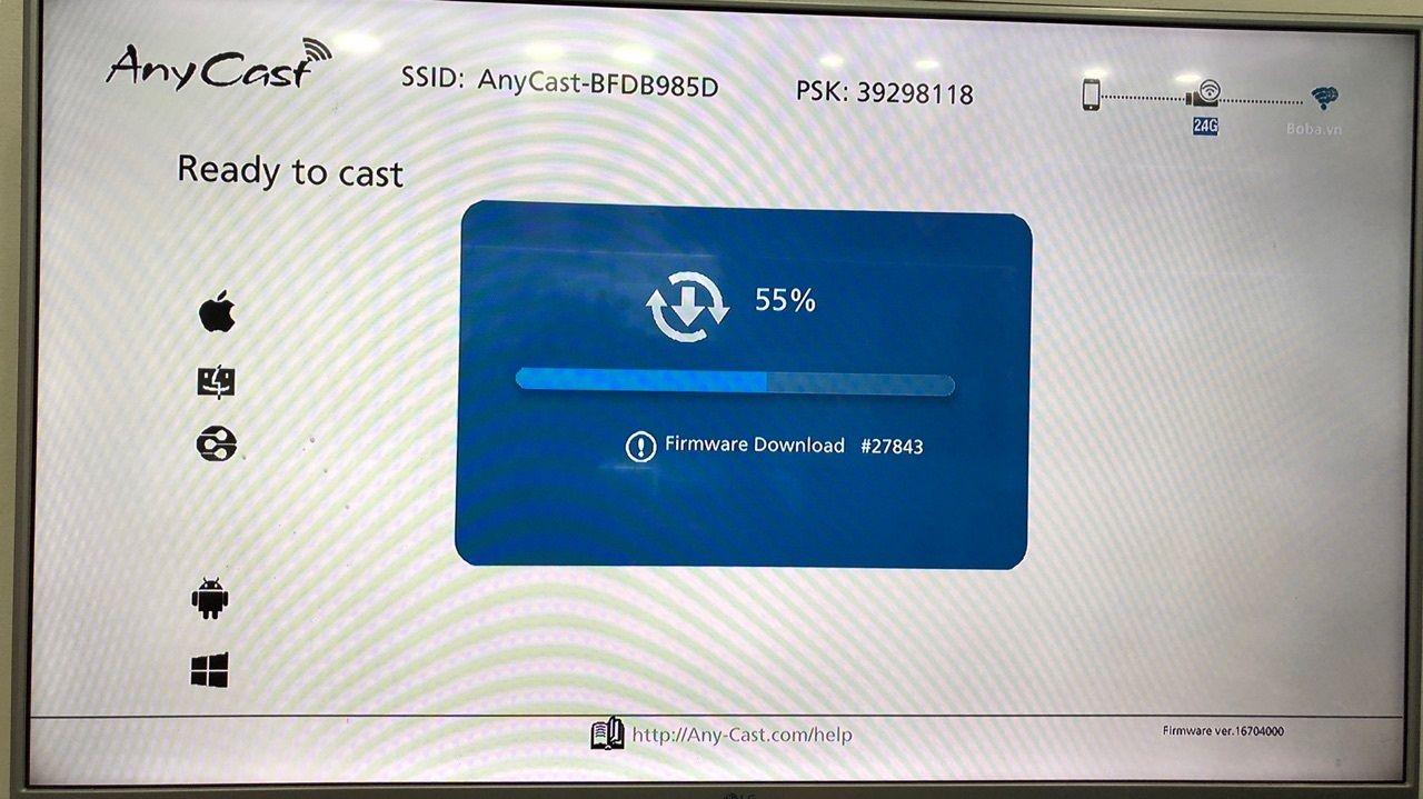 fimware HDMI không dây M2 plus và M4 plus được cập nhập