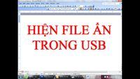Cách hiện file ẩn trong USB