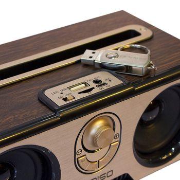 Loa bluetooth Himiso Suntek KM7 thiết kế cổ điển vân gỗ