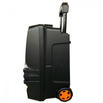 Loa kéo di động BD H1263 3 tấc rưỡi có bánh xe - Đi kèm 2 micro không dây
