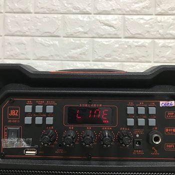 Loa kéo di động JBZ 1213 chính hãng - 3 tấc kèm 2 micro không dây
