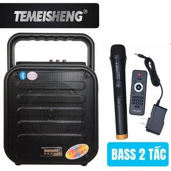 Loa kéo di động Temeisheng A6-4 - 2 tấc tặng kèm 1 micro không dây