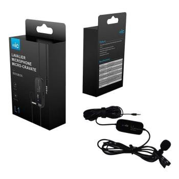 Micro thu âm cài áo  Lavalier Microphone Cravate L1 chính hãng