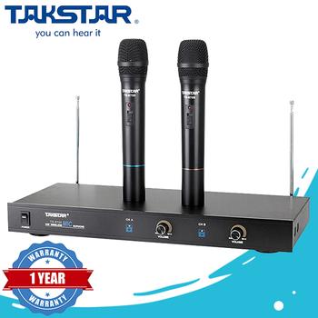 Micro karaoke không dây Takstar TS 6700 - 2 Micro chính hãng Original (Black)