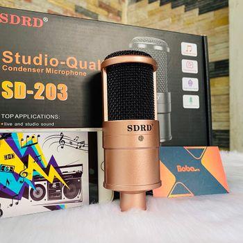 Mic thu âm Livestream SDRD SD-203 - Chuyên hát livestream Karaoke cực hay