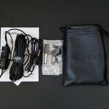 Micro cài áo Boya By M1 - Hỗ trợ lắp trên điện thoại và máy ảnh DSLR