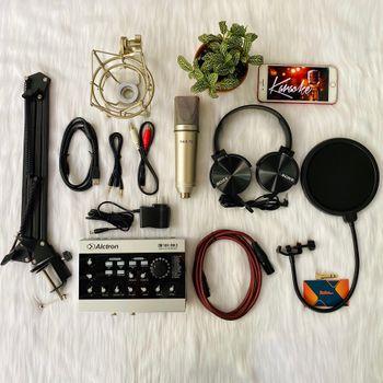 Bộ micro chuyên nghiệp phòng thu Micro Max-79 và Soundcard Alctron U16K MK 3
