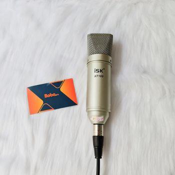 Bộ micro thu âm livestream ISK AT100  kết hợp Soundcard XOX K10 - Full chân màn kẹp mic