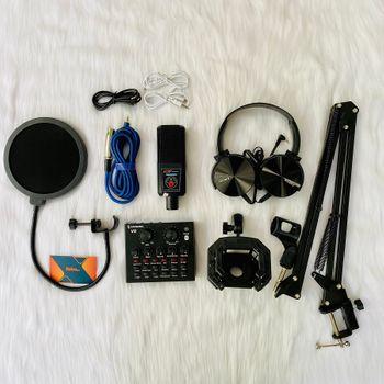 Bộ micro thu âm livestream AQTA ALC 280  Soundcard V8