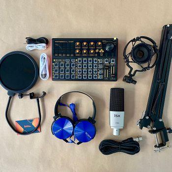 Bộ thu âm chuyên nghiệp soundcard k300 và ISK S7000 cao cấp