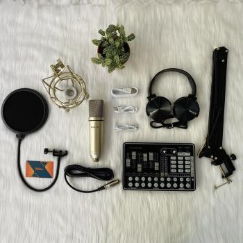 Combo Micro thu âm Max-79 cùng Soundcard MKAI H9 -Tặng tai nghe Sony
