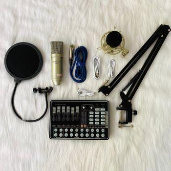 Combo thu âm chuyên nghiệp AQT AQ-100 kết hợp soundcard H9