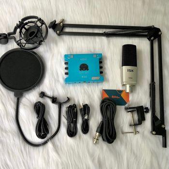 Combo thu âm XOX K10 với mic ISK S700 đáng mua nhất cuối năm 2020