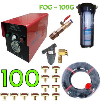 Dàn phun sương công suất lơn 100 béc  - Kojin Tex 100G cốc lọc rác 120M dây