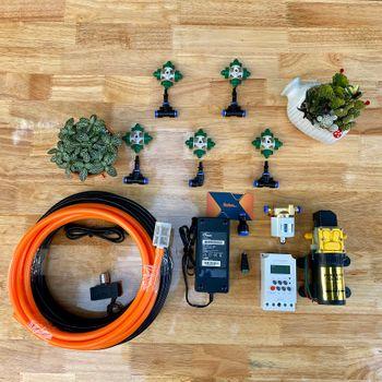 Hệ thống tưới phun sương cho vườn lan tự động 10 béc phun