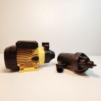 Hệ thống phun tưới 40 béc 4 hướng đầu đồng điều chỉnh lượng nước - Bơm Lion 0.5HP