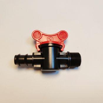 Van khóa ren ngoài 21 ra ống 16mm