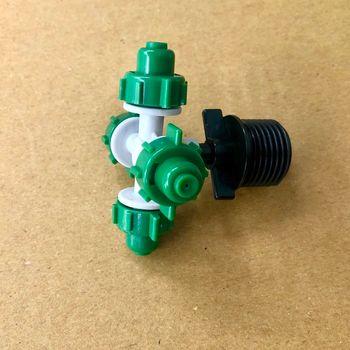 Béc nhựa 4 hướng kèm ren nối ống 21mm