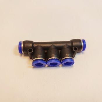 Chia 5 ống 8mm khớp nối nhanh