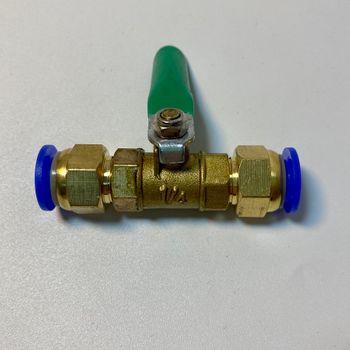 Van khóa ống thẳng bằng đồng 2 đầu 10mm