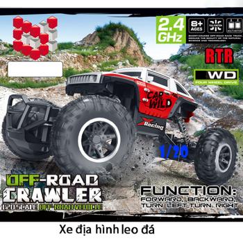 Xe địa hình điều khiển monter tỉ lệ 1-20 Rock Crawler 4WD 1020-1