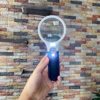 Kính lúp cầm tay có đèn LED siêu sáng P9 - Zoom 20 lần
