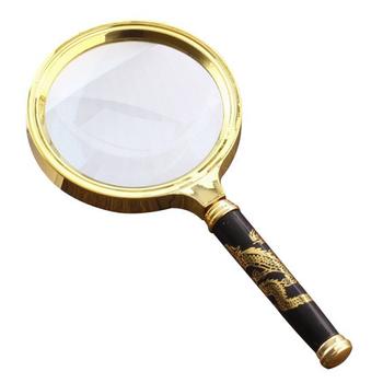 Kính lúp cầm tay Magnifier Zoom 10x - Cán rồng mẫu mới