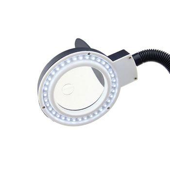 Kính lúp phóng đại 10X K5 dùng sửa chữa để bàn có đèn LED