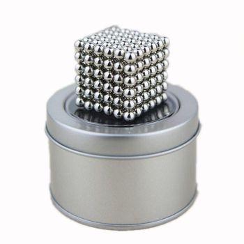 Bộ đồ chơi nam châm xếp hình thông minh 216 viên 5mm Buckyballs Tròn (Bạc)