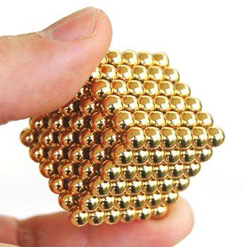 Trò chơi Bi Nam Châm 5mm màu vàng Gold 216 Viên Bucky Balls