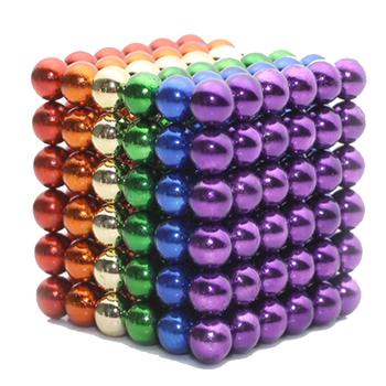 Trò chơi Bi Nam Châm 5mm Sắc Màu 216 Viên Bucky Balls Rainbow 6 màu bảo hành 3 năm