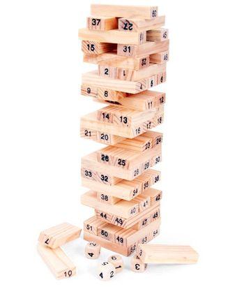 Bộ đồ chơi rút gỗ mini N6 cho bé - Có đánh số thứ tự Wiss Toys