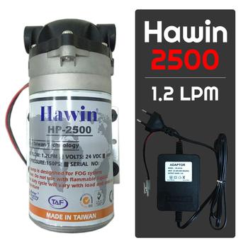 Bộ phun sương 15 đầu phun - Bơm Hawin HP 2500 lọc rác 20M dây