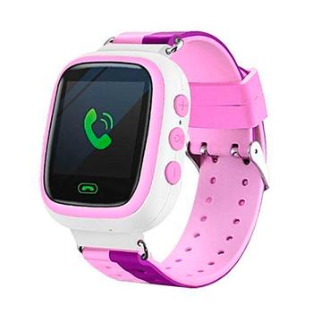 Đồng hồ gọi điện trẻ em GPS E80S N Original có tiếng Việt ( Màu Hồng Tím )