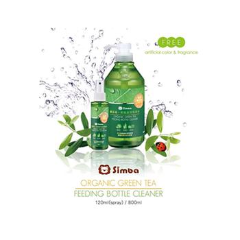 Nước rửa hoa quả và bình sữa chiết xuất trà xanh Organic simba 800ml