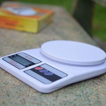Cân Điện Tử Mini nhà bếp SF400 max 7Kg - Mặt tròn