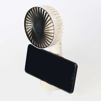 Quạt mini để bàn có kệ để điện thoại H2