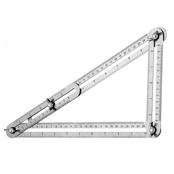 Thước đo đa góc bằng thép không rỉ B525 điều chỉnh 2 3 4 góc vuông
