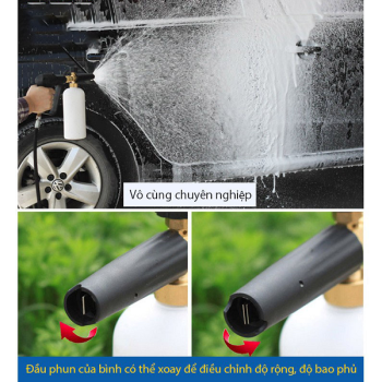 Bộ Súng Xịt Rửa Và Bình Tạo Bọt Tuyết Cao Cấp Cho Máy Rửa Xe TT9006