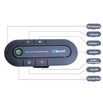 Loa bluetooth đàm thoại rảnh tay trên xe hơi HANDS FREE KIT CBP BT 23