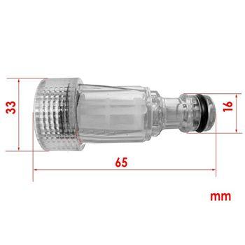 Đầu nối nhựa trắng (có lọc) - Đầu nối 17mm - Ren trong 25mm