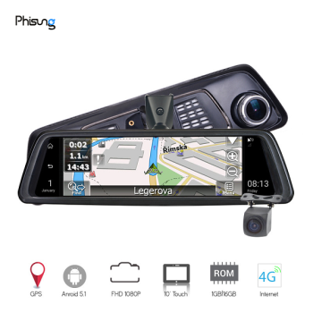 Camera hành trình Phisung V9 - Ống kính kép và tiêu chuẩn ADAS bluetooth wifi