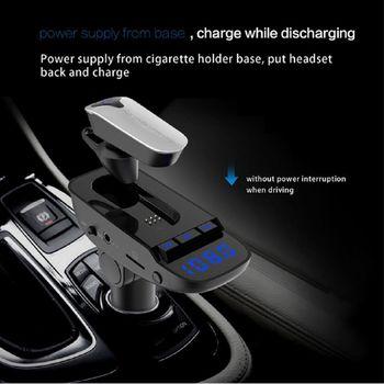 Car Bluedio T6 chính hãng - Đầu sạc kết nối MP3 và Tai nghe bluetooth