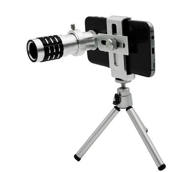 Ống kính zoom tele 12x hỗ trợ xóa phông cho điện thoại H5 - Có Tripod