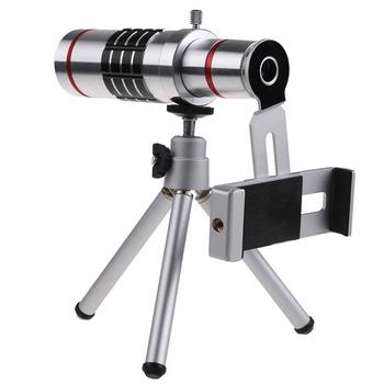 Ống kính lens camera tele zoom 18x cho smart phone H7 - Có Tripod