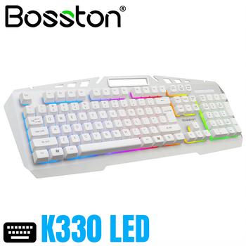 Bàn phím Bosston k330 USB  -  Led nền 7 màu có giá đỡ điện thoại